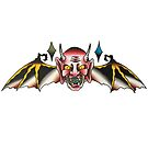 Traditional Winged Devil Head Tattoo Design by FOREVER TRUE TATTOO