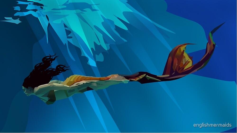 Swimming Mermaid by englishmermaids