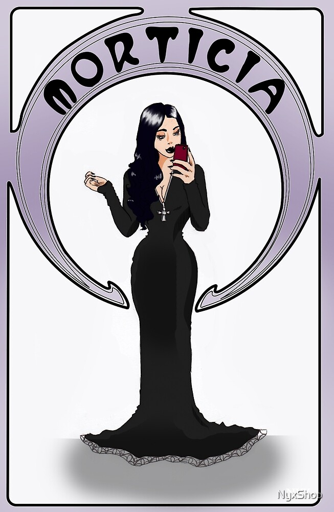 Morticia take selfies by NyxShop