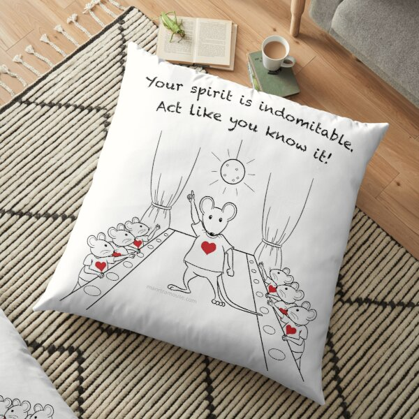 Dancing MantraMouse Act Like You Know It Cartoon Floor Pillow