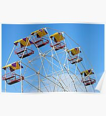 Bright Colourful Ferris Wheel Poster