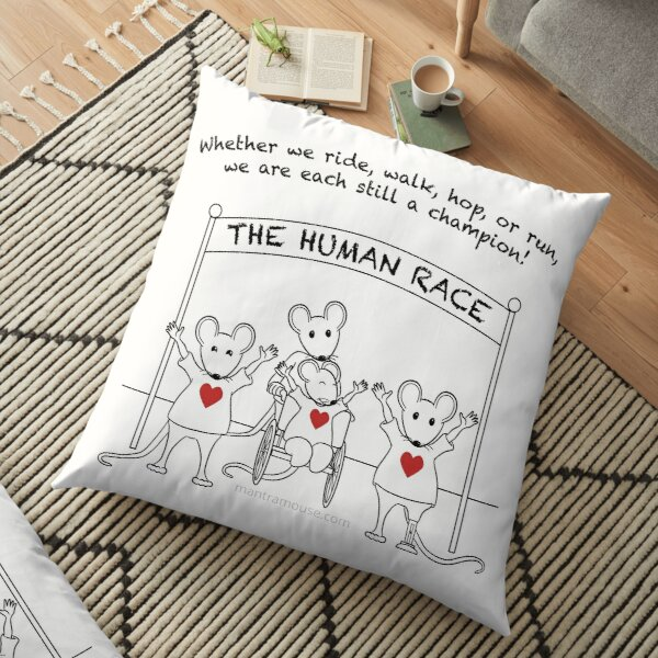 MantraMouse Human Race Cartoon Floor Pillow
