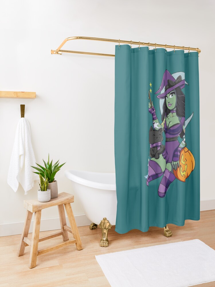 Alternate view of Bewitching Shower Curtain