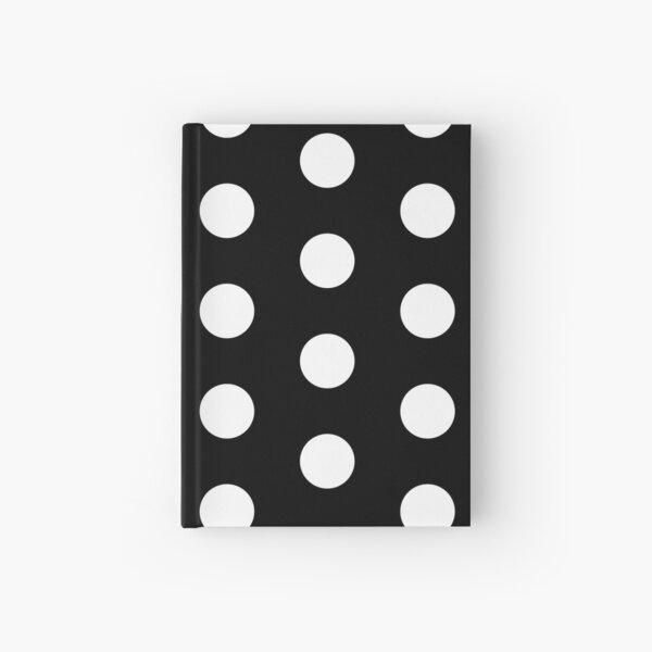 Little White Dot Black Background Hardcover Journal