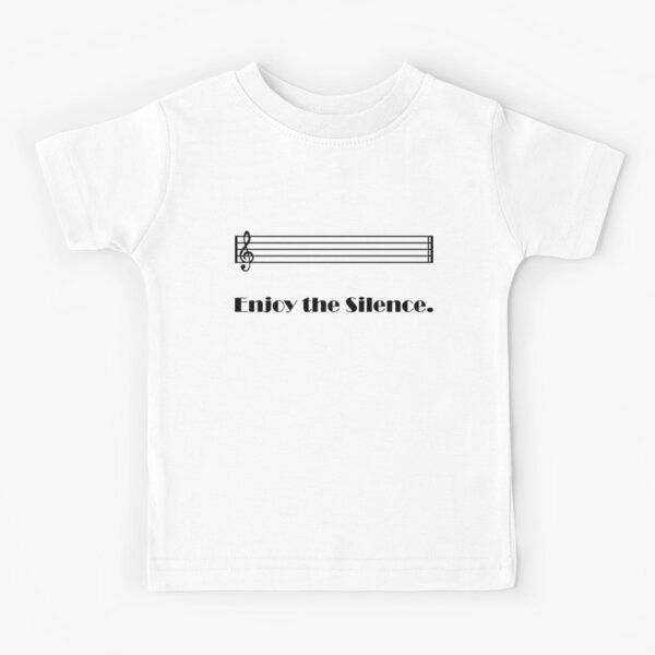 Enjoy the Silence Camiseta para niños