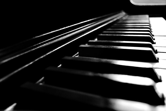 Piano Keys by Laurie Minor