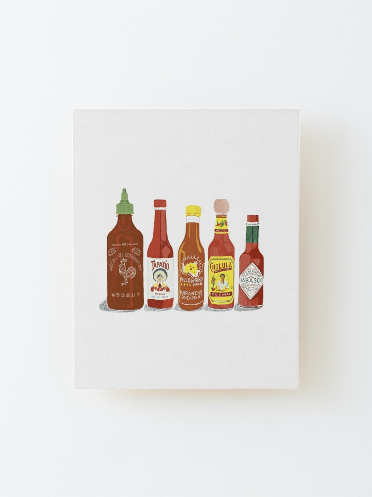 Alternate view of Hot hot hot sauce Mounted Print