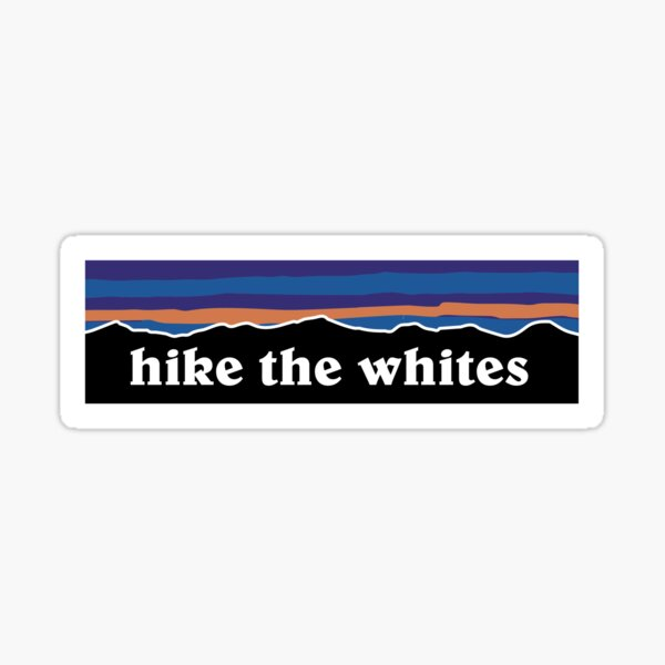 Hike the white mountains Sticker
