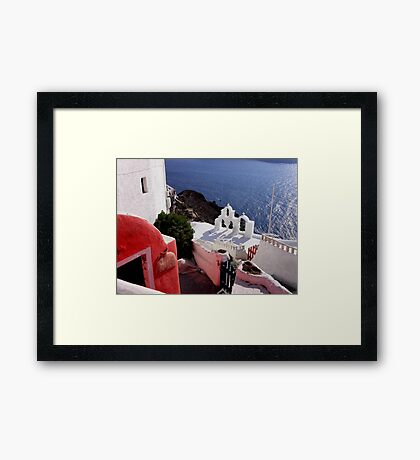 Colors of Greece Framed Print