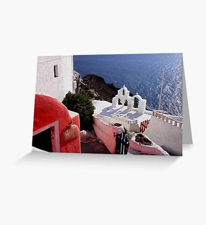 Colors of Greece Greeting Card