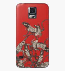 nur Eidechsen rot Hülle & Skin für Samsung Galaxy
