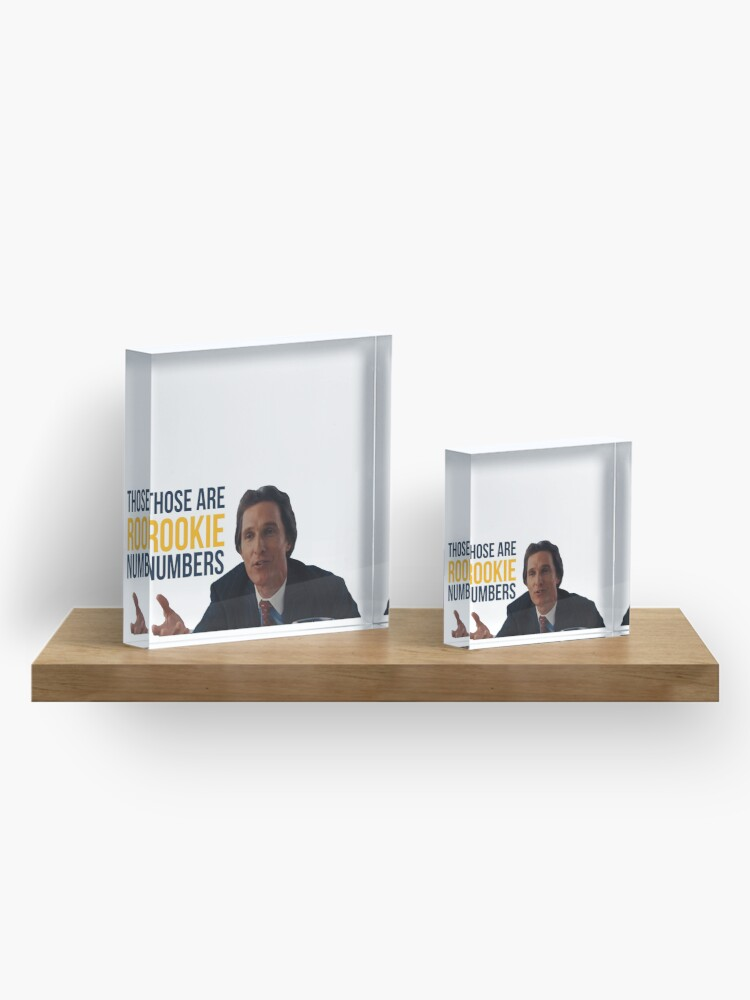 Alternate view of Wolf of Wall Street Rookie Numbers Acrylic Block