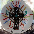 Celtic Cross Plate by Loretta Nash