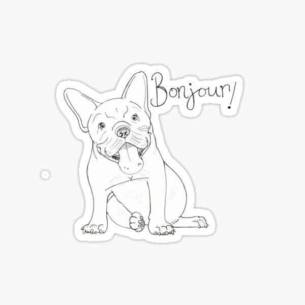 French Bulldog Greeting Sticker