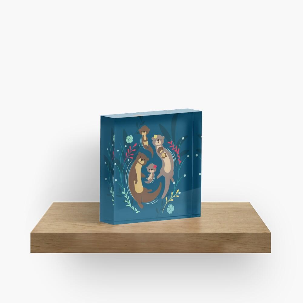 Otter Family Acrylic Block