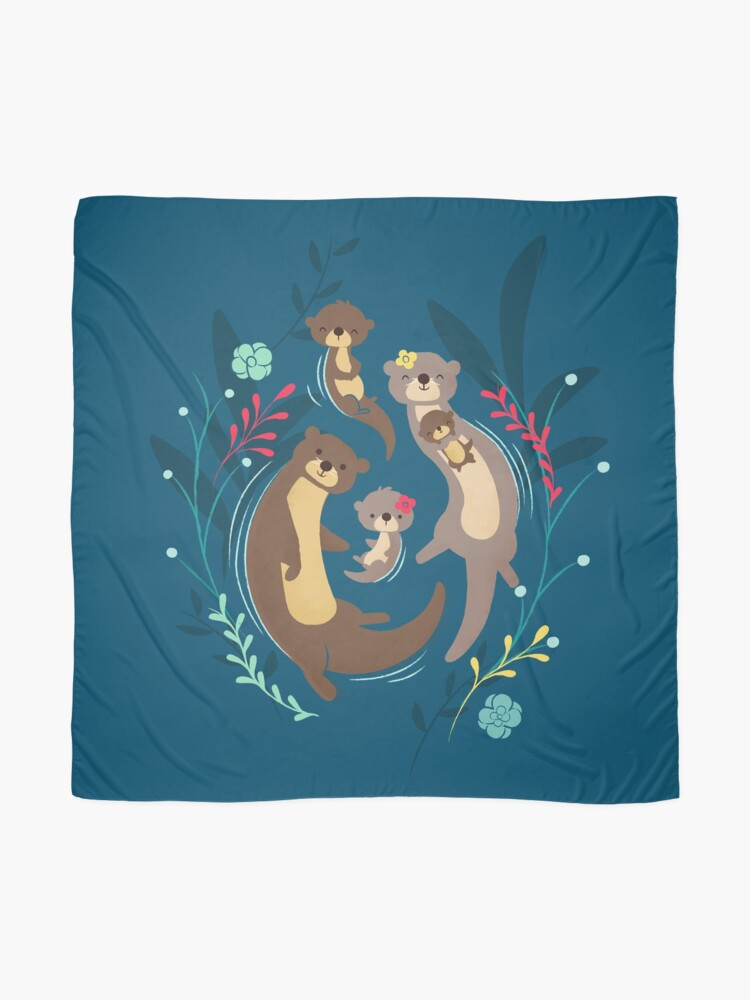 Alternate view of Otter Family Scarf