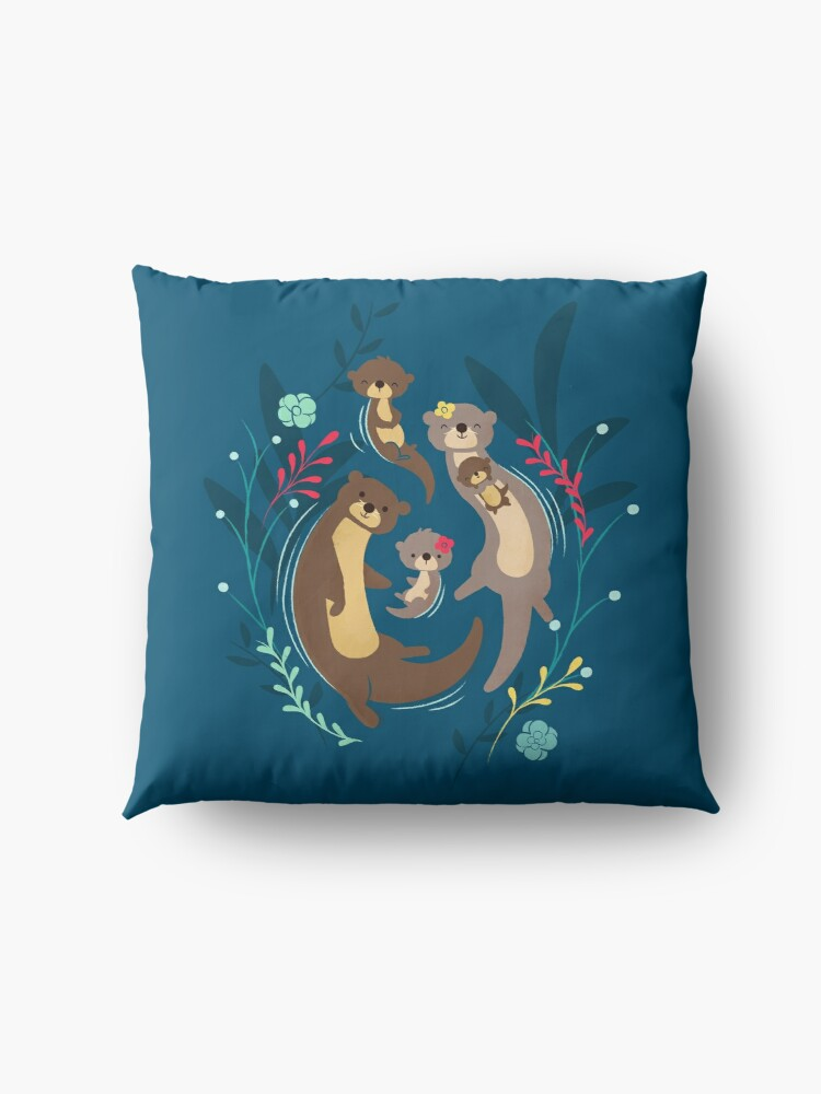 Alternate view of Otter Family Floor Pillow