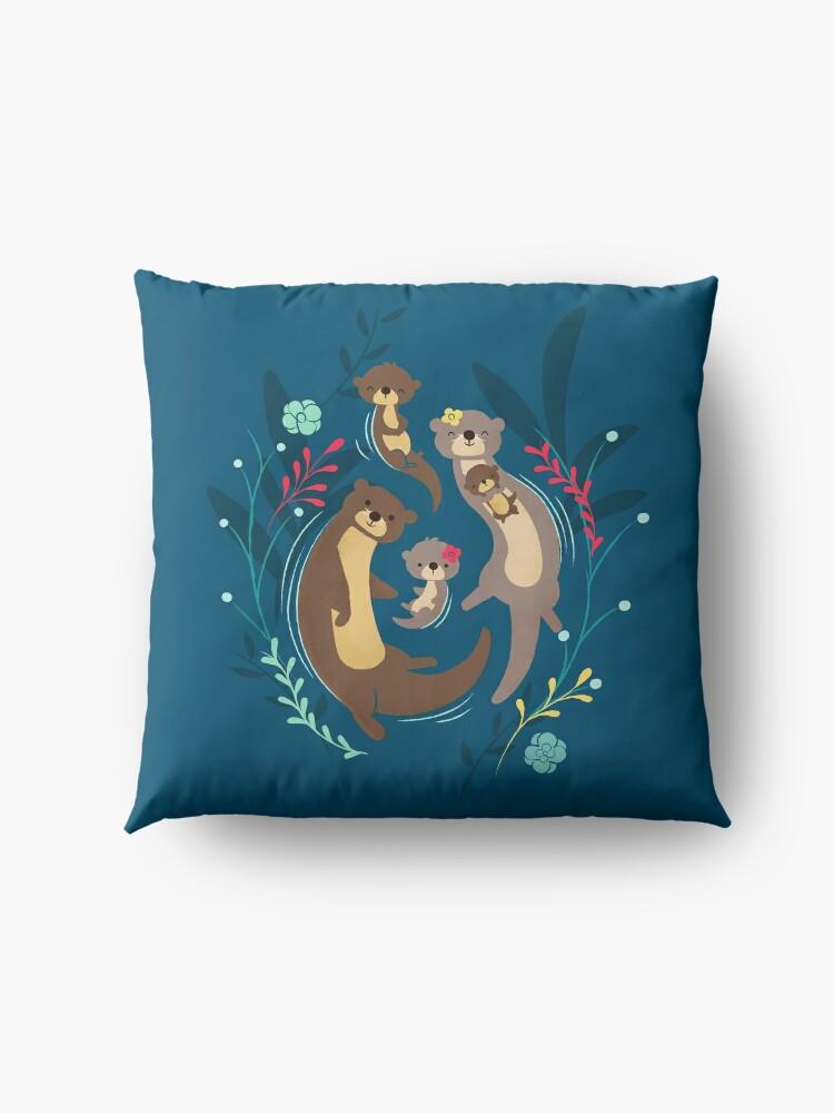 Alternate view of Otter Family Floor Pillow