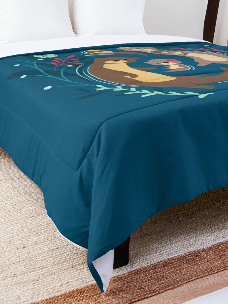 Alternate view of Otter Family Comforter
