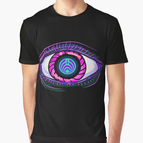 Trippy Bassdrop Eye Bassnectar 808 Rave Clothing   Graphic T-Shirt