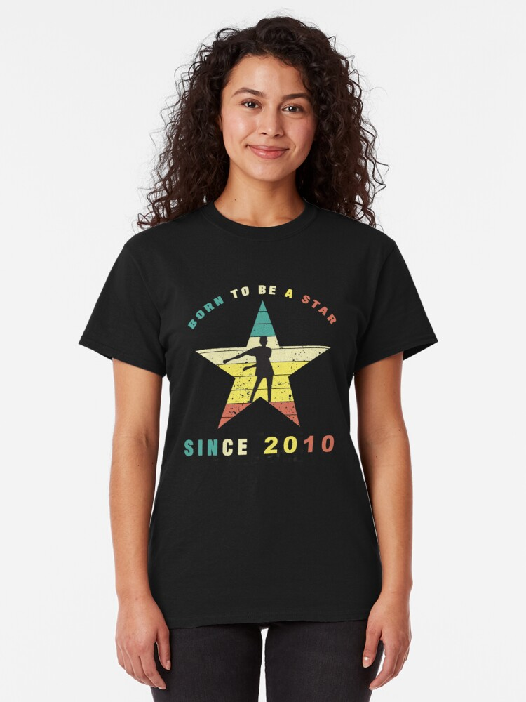 Alternate view of Vintage Floss Dance 10 year old Birthday Gift. Classic T-Shirt