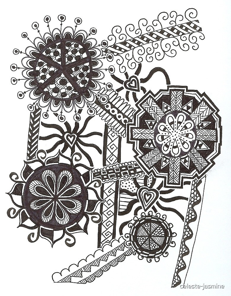Mandala Flower Doodle by celeste-jasmine
