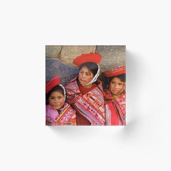 The Quechua of Patacancha; a Threatened Culture Acrylic Block