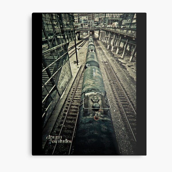 you are waiting for a train Metal Print