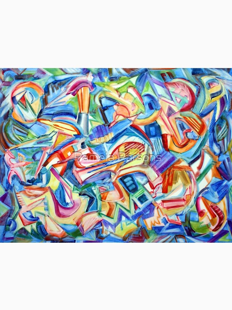 All that Jazz. Abstract action painting in the spirit of jazz improv by Pamela Parsons by parsonsp