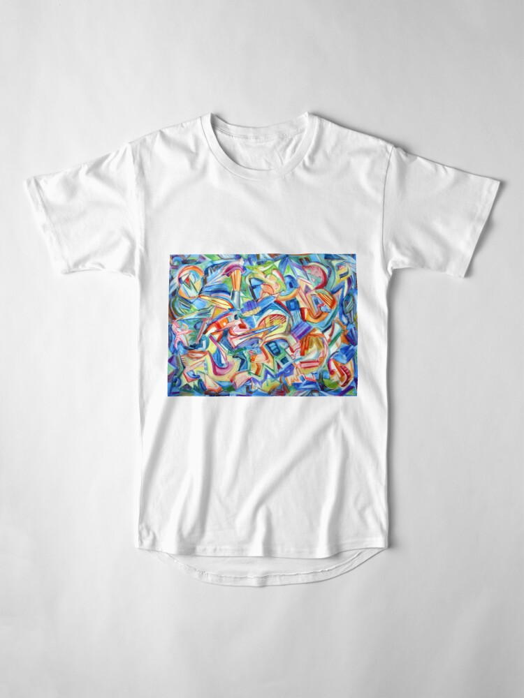 Alternate view of All that Jazz. Abstract action painting in the spirit of jazz improv by Pamela Parsons Long T-Shirt