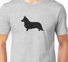 Cardigan Welsh Corgi Silhouette Unisex T-Shirt