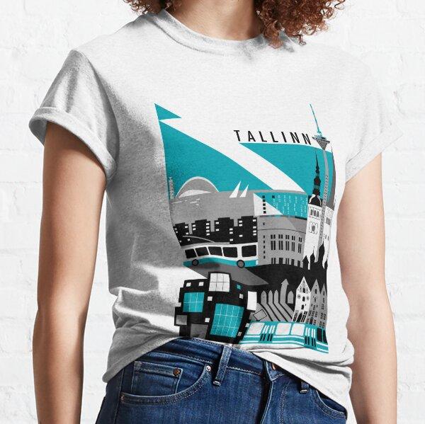 Tallinn. Sini-must-valge.  Classic T-Shirt
