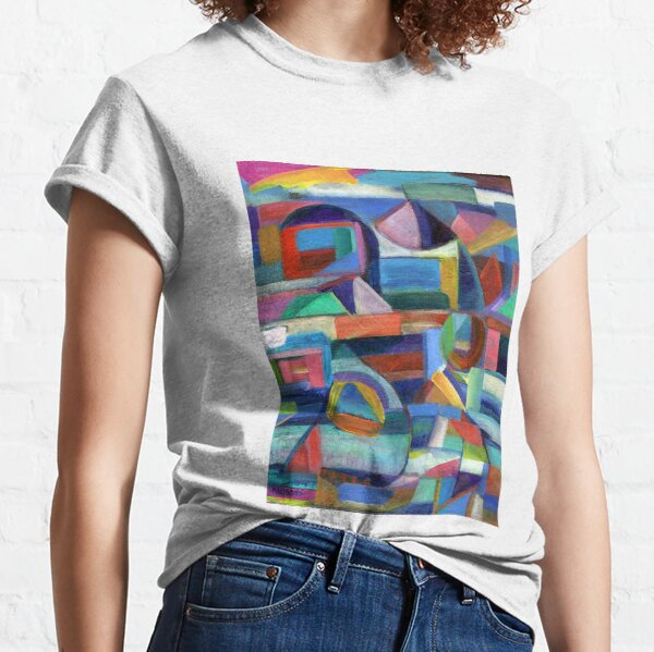 Balance. A geometric, abstract expressionist acrylic painting by Pamela Parsons Classic T-Shirt