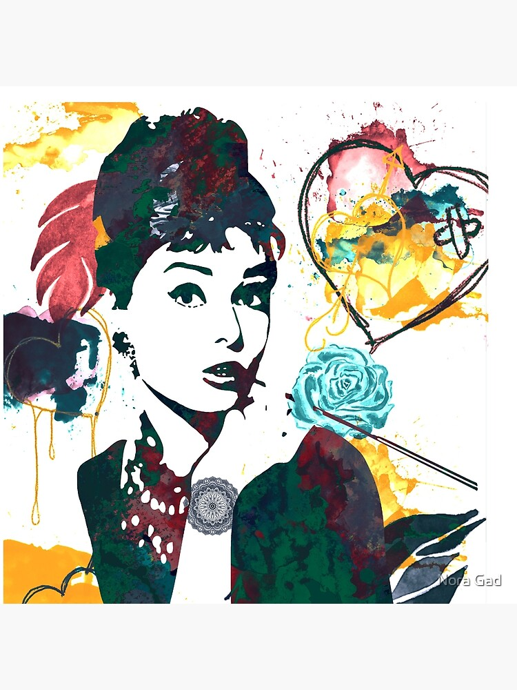 Audrey Hepburn nature colours by NoraMohammed