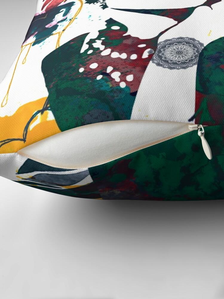 Alternate view of Audrey Hepburn nature colours Throw Pillow