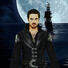 "Captain Hook Comic Poster ""Moonlight"" Logoless Design by Marianne Paluso"
