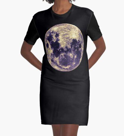 Full Moon Graphic T-Shirt Dress