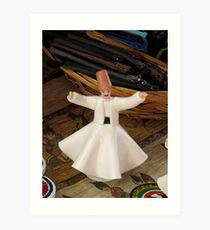 Whirling Dervish (Figurine Style that Is) Art Print
