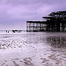 West Pier Brighton - Panoramic by Leon Ritchie