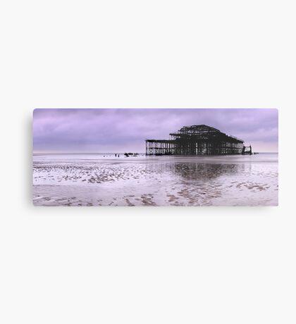 West Pier Brighton - Panoramic Metal Print