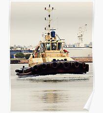 Tug Boat in Newcastle Port Poster