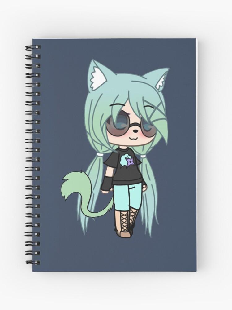 Gacha Life Series Chloe The Tomboy Spiral Notebook By Pignpix