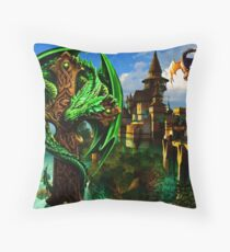 Dragon Heart Throw Pillow