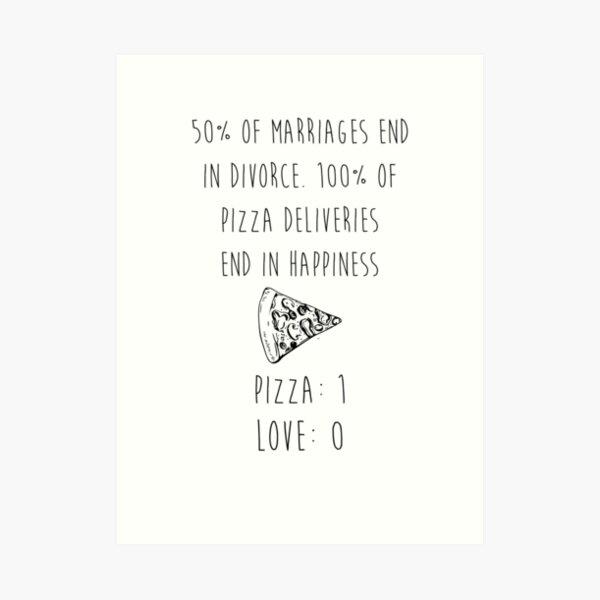 Pizza > Love Art Print