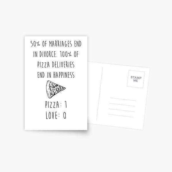 Pizza > Love Postcard
