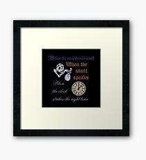 The Cat's Riddle Framed Print