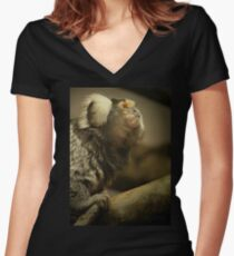 Common Marmoset Women's Fitted V-Neck T-Shirt