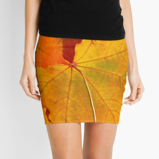 Golden Warmth Mini Skirt