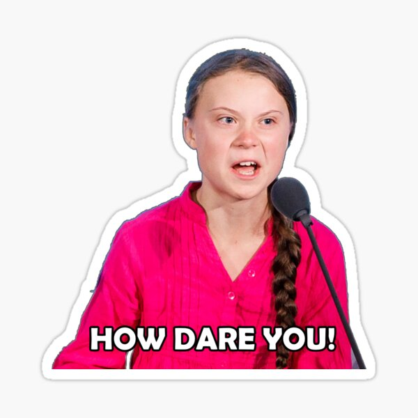 "Greta Thunberg - ""How Dare You"" Sticker"