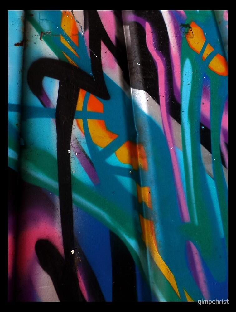 Santa Monica Graffiti Love by gimpchrist